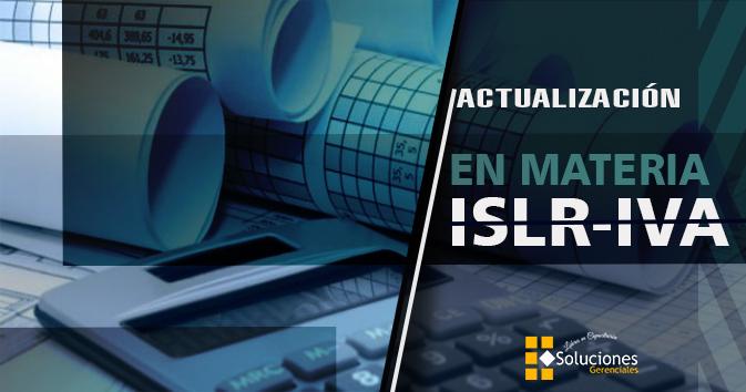 Actualización En Materia ISLR-IVA