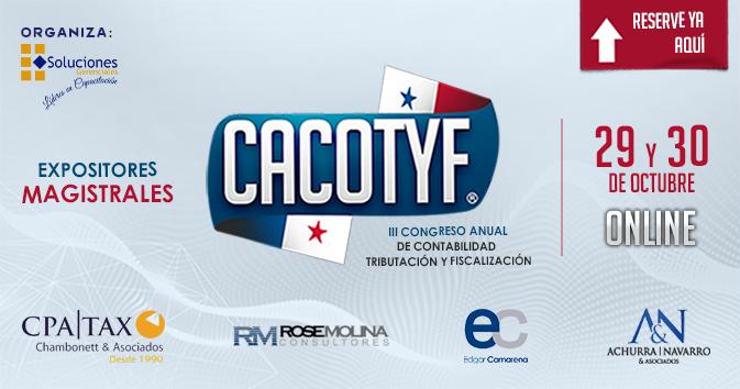 Anual de Contabilidad, Tributación y Fiscalización. CACOTYF - PANAMÁ 2020  ONLINE