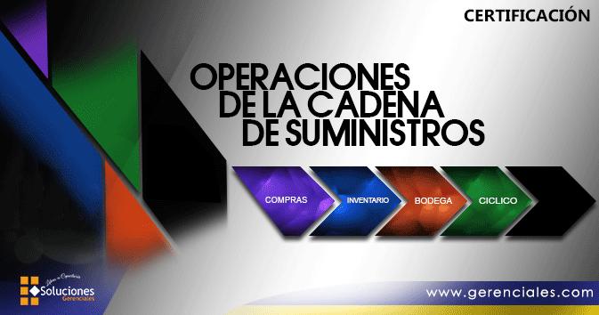 Diplomado: Operaciones de la Cadena de Suministros  ONLINE - Fórmese de manera práctica en operaciones logísticas tales como compras,control de inventarios, bodega y distribución en empresas comerciales o manufactureras.