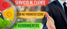Servicio al cliente con Net promoter score y herramientas