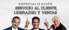 Especialización: Servicio al Cliente, Liderazgo y Ventas  ONLINE